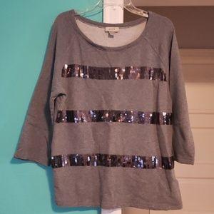Sequin Sweatshirt  - Size XL